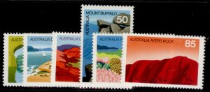 AUSTRALIA QEII SG627-632, 1976 Austalian scenes set, NH MINT.