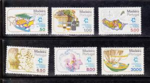 Portugal - Madeira # 68-73, Complete Set, Mint Never Hinged