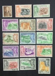 MOMEN: DOMINICA SG #120-134 1951 USED £100 LOT #62116