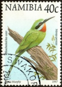 Namibia 857 - Used - 40c Blue-cheeked Bee-eater (1997)