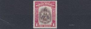 NORTH BORNEO  1939  S G 315     $1   BROWN  &  CARMINE     LMH  CAT £150