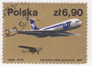 Poland, Sc # 2313 (2), CTO-NH, 1979, LOT Planes
