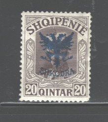 ALBANIA 1920  #122, OVERPRINT, NO NEW VALUE, MH