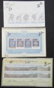 EDW1949SELL : ASCENSION Very clean collection of ALL Cplt sets & S/S. Cat $961.