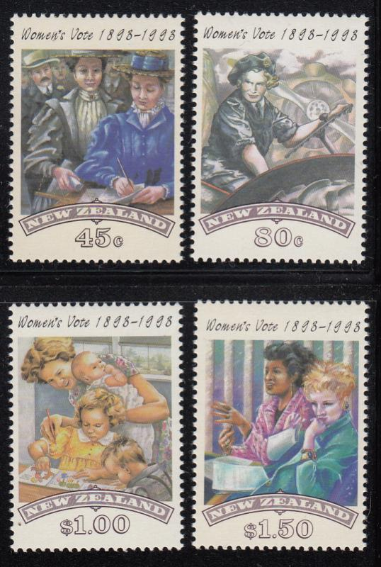 New Zealand 1993 MNH Scott #1151-#1154 Women's Suffrage Centenary