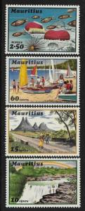 Mauritius 1971 Tourist Publicity Waterfall Mountain Marine life Fishes MNH A75