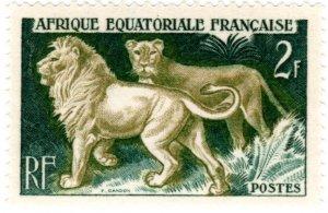 French Equatorial Africa Scott 195-198 Set (1957: Wildlife)