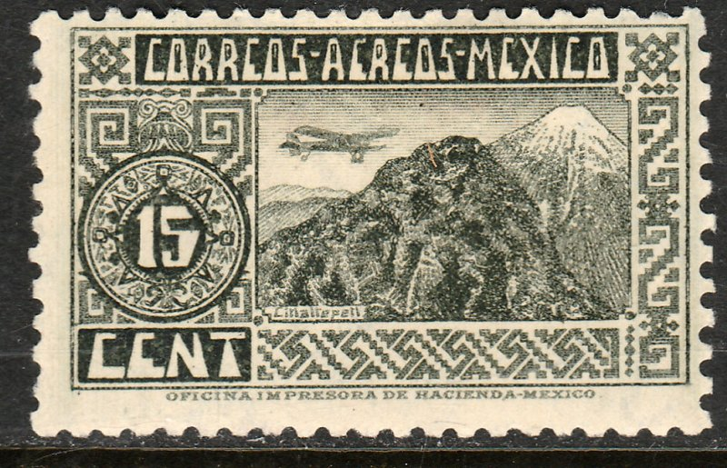 MEXICO C67, 15¢ ORIZABA VOLCANO. UNUSED, H OG. VF.