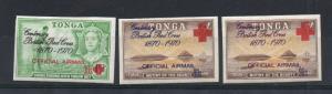 Tonga - SG# O55 - O57 MH / Imperfs  -  Lot 0119095