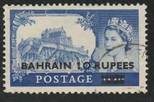 BAHRAIN 1958 10R on QE 10/- type I - SG96 fine used........................65840