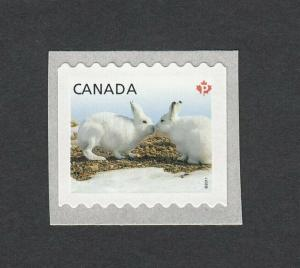BUNNY = RABBIT = ARCTIC HARE =LARGE COIL stamp Canada 2011 #2425 MNH