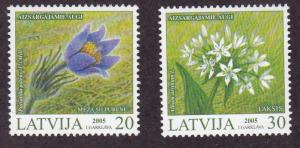 Latvia 2005 Endangered Plants (2)  VF/NH Scott 612-613