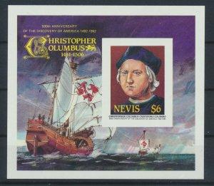 [I1887] Nevis 1992 C. Colomb good sheet very fine MNH imperf