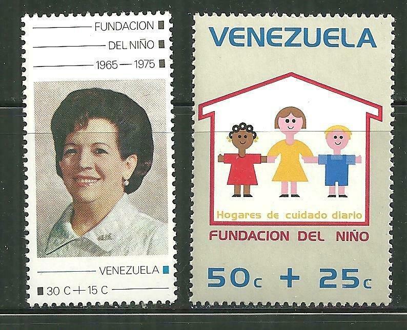 Venezuela MNH B4-5 Childrens Foundation