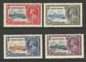 British Virgin Islands 1935 KGV Silver Jubilee Set Of Stamps Mint Never Hinged