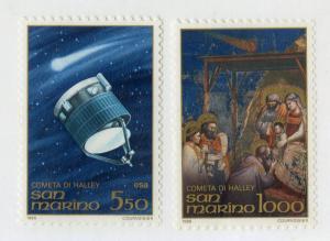 SAN MARINO 1105-1106 MNH SCV $2.50 BIN $1.25 Halley's Comet