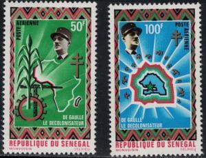 Senegal #C92-C93 MNH De Gaulle/Map of Africa CV$6 [73312]
