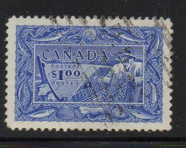 Canada Sc 302 1951 Fishing Industry stamp used