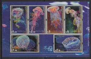 Hong Kong 2008 Jellyfish Miniature Sheet MNH