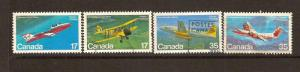 CANADIAN SET ON CANADIAN AIRCRAFT USED STAMPS  LOT#235
