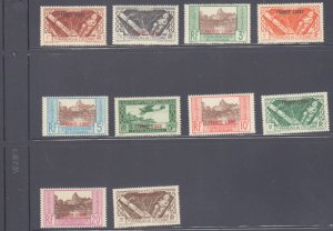 French Polynesia #126-135, Complete Set(10), 1941, Hinged