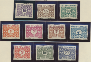 Somali Coast (Djibouti) Stamps Scott #J39 To J48, Mint Hinged - Free U.S. Shi...
