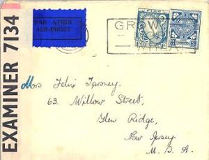 Ireland 3d Celtic Cross and 1/- Sword of Light 1941 Gaillimh Grow More Wheat ...