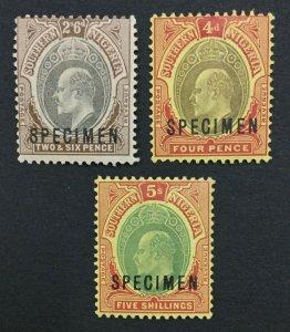 MOMEN: SOUTHERN NIGERIA SG #17s,38s,42s SPECIMEN MINT OG H LOT #191541-530