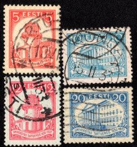 Estonia Scott 108-111 Used.