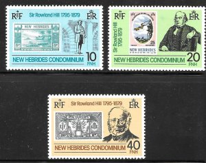 New Hebrides, British 265-267: Stamps, Roland Hill, MH, VF