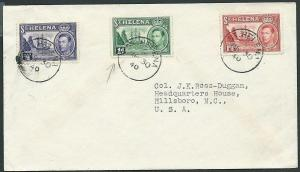 ST HELENA 1940 cover to USA - GVI 3 values.................................43898