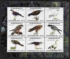 Turkmenistan 2000 ? Birds of Prey perf sheetlet containin...