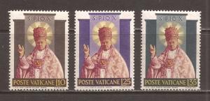 Vatican scott #182-84 m/h stock # N4613