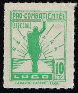 SPAIN STAMP LUGO Civil War War Period Local Stamp 10C GREEN MNH