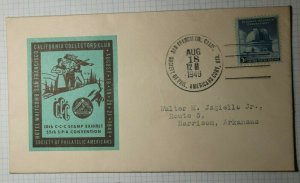 CCC Stamp Exhibit SPA Convention San Francisco CA Philatelic Cachet Cover 1949