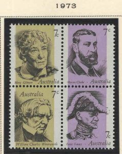AUSTRALIA Scott 546-549 MNH** 1973 Block set
