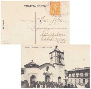 Bolivia 8c Frias c1913 Correos de Bolivia, Section de Estadistica PPC (Plaza ...