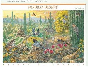 Sonora Desert stamps Scott 3293 April 1999 SS-10