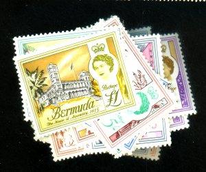 BERMUDA #175-191 MINT F-VF OG NH Cat $43