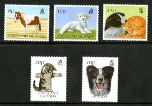 FALKLAND ISLAND 588-92 MNH SCV $11.50 BIN $7.00 ANIMALS