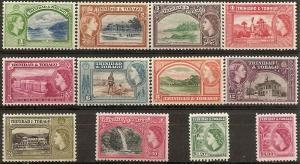 Trinidad & Tobago  72-83 Mint OG 1938 1st QEII Definitives