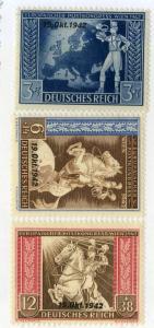 GERMANY B12-B14 MH SCV $2.20 BIN $1.00 HORSES