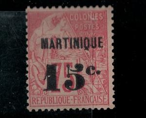 Martinique 1891 SC 20 Mint Signed SCV $210.00