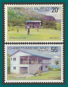 Christmas Island 1980 Golf Club, MNH  93-94,SG120-SG121