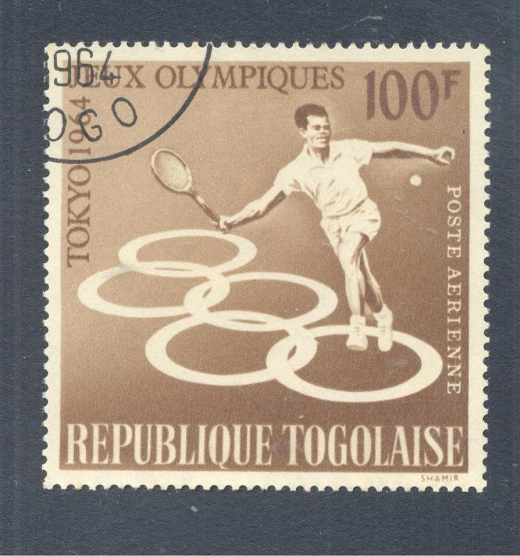 Olympics: 18th Summer Olympic Games, Tennis, 1964 Togo, Scott #C-43