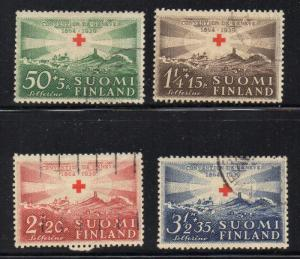 Finland Sc B35-8 1039 Red Cross stamp set used