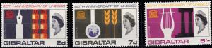 Gibraltar 183-185 MNH (1966)