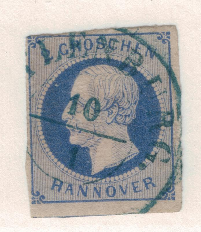Hannover (German State) Stamp Scott #20, Used, Partial Town Cancel