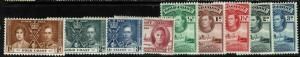 Gold Coast 9 Mint 1930s stamps, few faults - S1021
