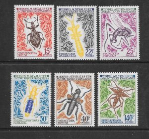 FRENCH SOUTHERN ANTARCTIC TERRITORIES #46-51  INSECTS  MNH